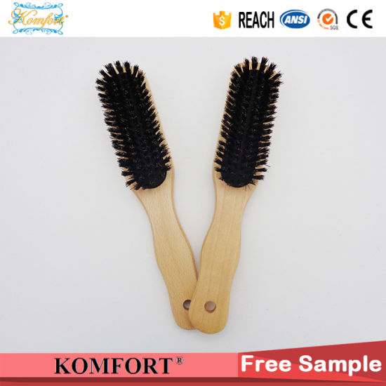 Wooden Custom Men Easy Clean Sponge Hair Brush Manufacturing pictures & photos