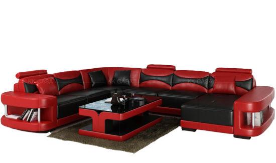 Flip Up Headrest Sectional Sofa