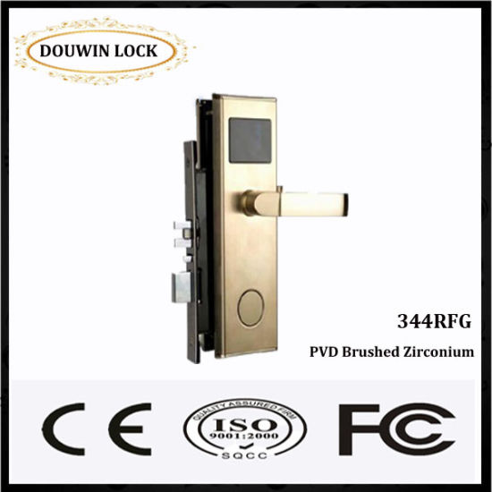 hotel door lock types. Hot Sale Hotel Door Lock MIFARE Card Type Brushed Zirconium Types