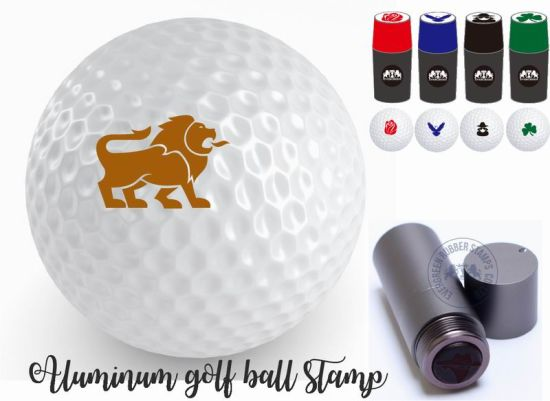 Aluminum Golf Ball Stamps in Many Vivid Ink Colors pictures & photos