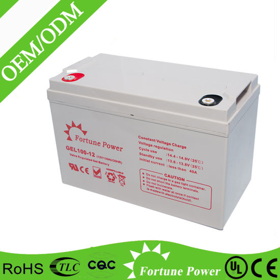 12V100ah Rechargeable Gel Battery, Solar UPS System, Solar Power