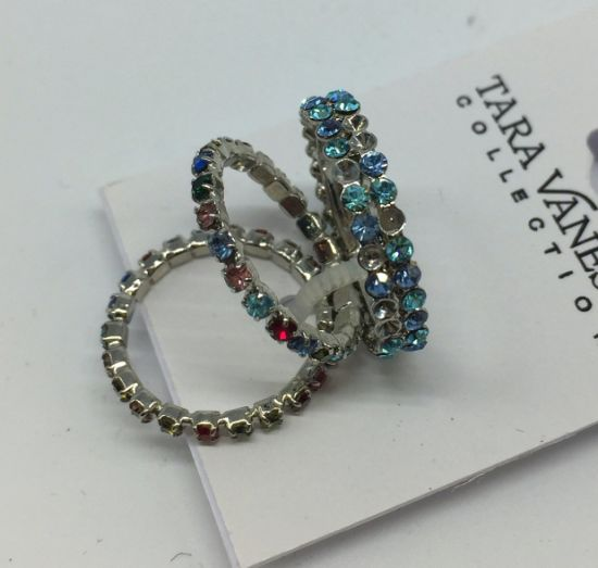Luxury Fashion Jewelry Crystals Bridal Ring New Design Party Silver Color Charming Wedding Ring
