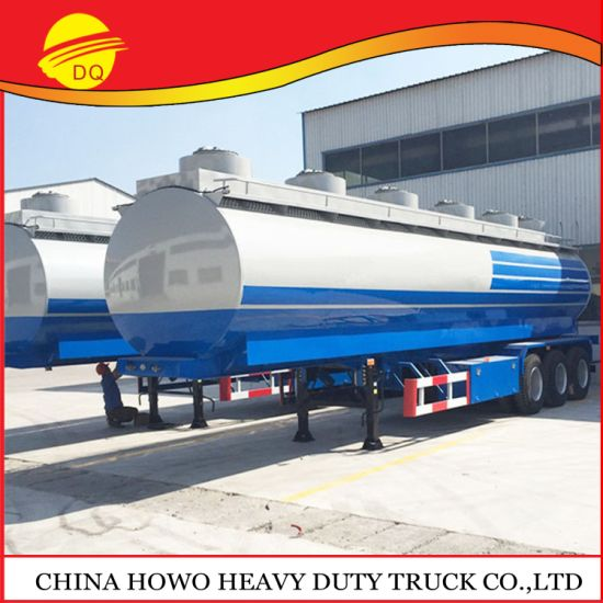 12r22.5 Tyre 3 Axle 4000 45000 Liters Fuel Tank Trailer Oil Tanker Semi Trailer