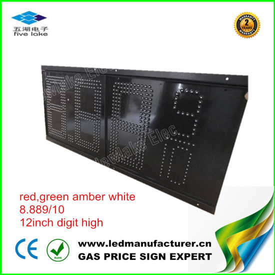 "12"" LED Gas Station Display (NL-TT30SF9-10-3R-GREEN) pictures & photos"