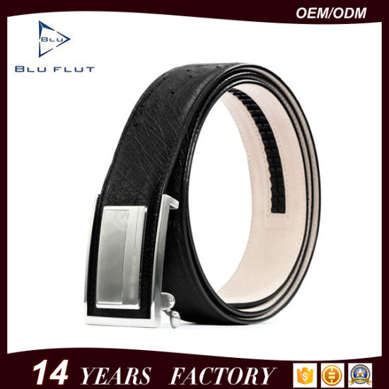 Casual Fashion Automatic Buckle Black Luxury Western Cow Leather Belts