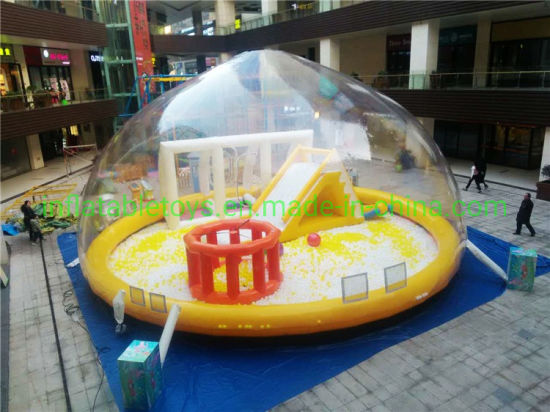 Outdoor Giant Inflatable Kids Playing Center Transparent Canopy Bubble Playground pictures & photos