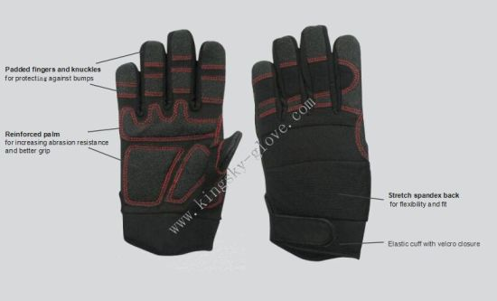 Gloves/Work Glove/Synthetic Leather Glove/Micro Fiber Glove/Safety Glove/Mechanic Glove/Labor Glove pictures & photos