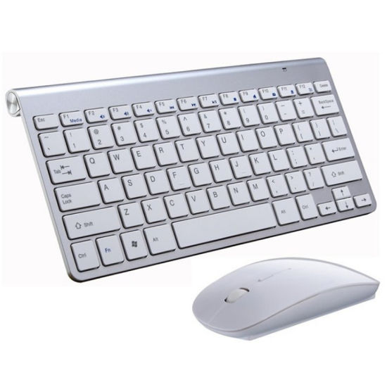 2.4G Wireless Keyboard and Mouse Mini Multimedia Keyboard Mouse Combo Set for Notebook Laptop