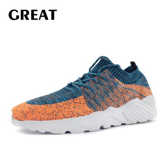 Greatshoe Fashion Flyknit Upper Shoes Sports Running Sneaker Casual Shoes