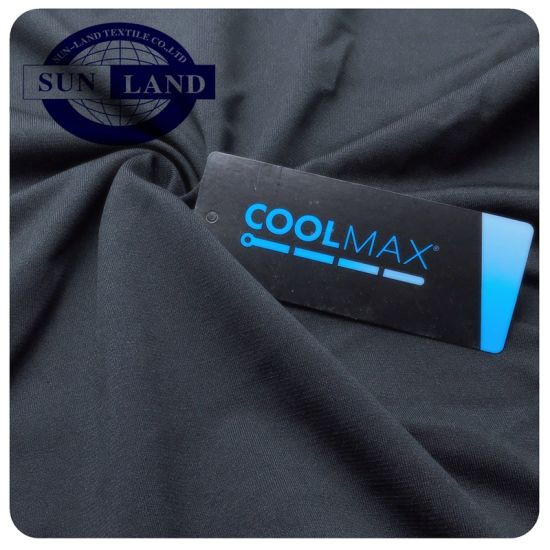Chinese Direct Factory Moisture Absorbing and Dry Fit Coolmax Active Sports Clothing Polyester Spandex Jersey Knit Fabric pictures & photos