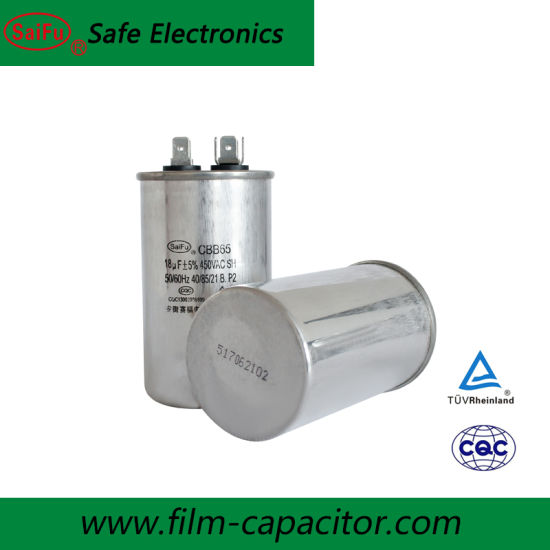 Motor Run Motor Start Capacitor 18uF 450VAC
