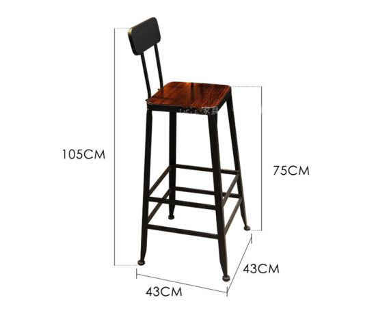 Wholesale Durable Modern Customized Bar Furniture Metal Frame Bar Chairs