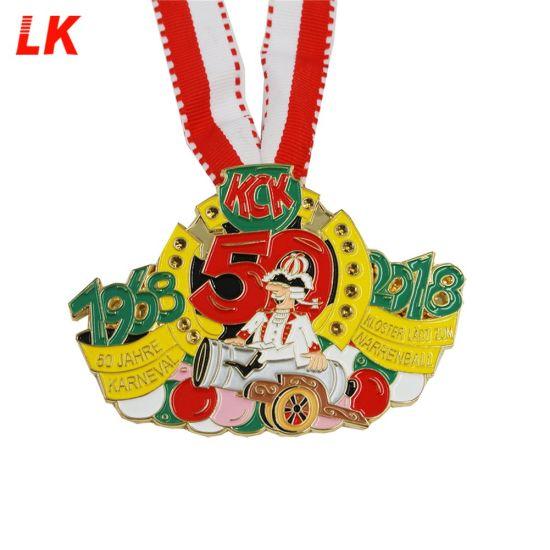 Custom Zinc Alloy Die Casting Soft Enamel Carnival Award Medallion Medal