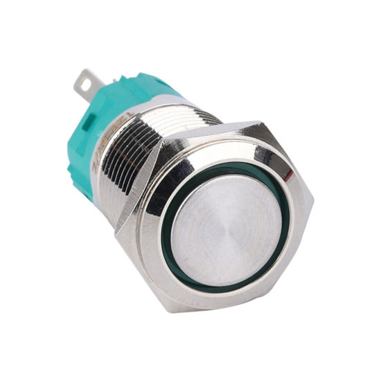 Flat Button Waterproof 16mm LED Momentary Illuminated Push Button Switch