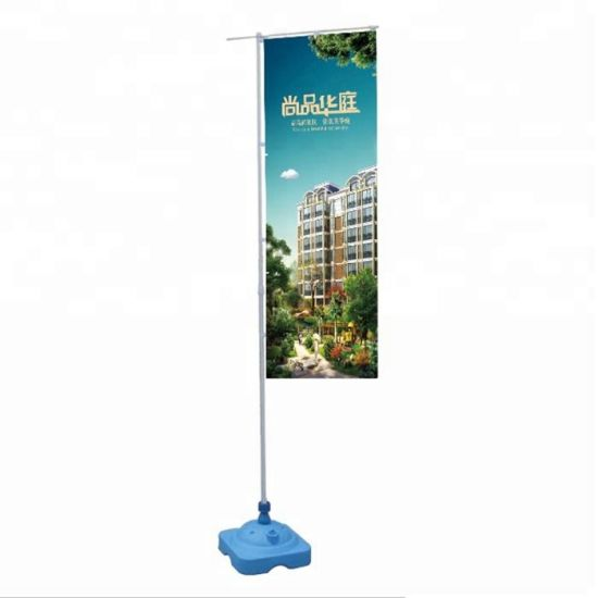 Custom Blade Feather Teardrop Beach Flying Flag Pole Banner Advertising Equipment Display Stand