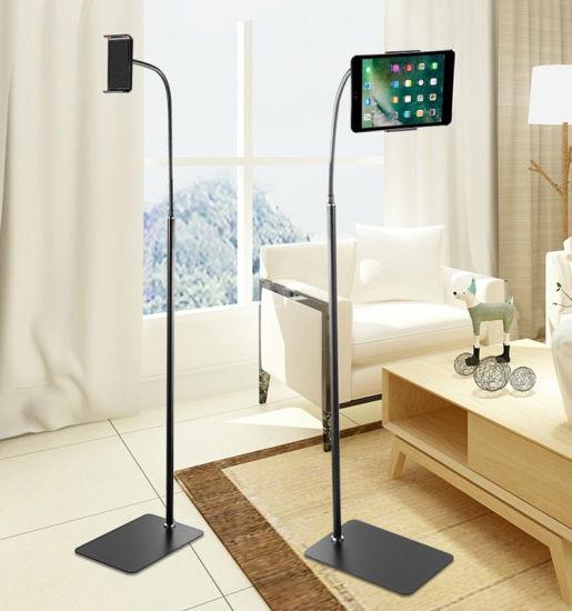 175cm Tall Metal Soft Tube Adjustable Arm Phone Tablet Floor Holder