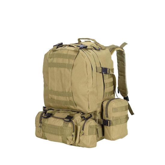 55L 600d Tactical Army Rucksacks Sport Backpack Camping Outdoor Hiking Traveling Trekking Bag