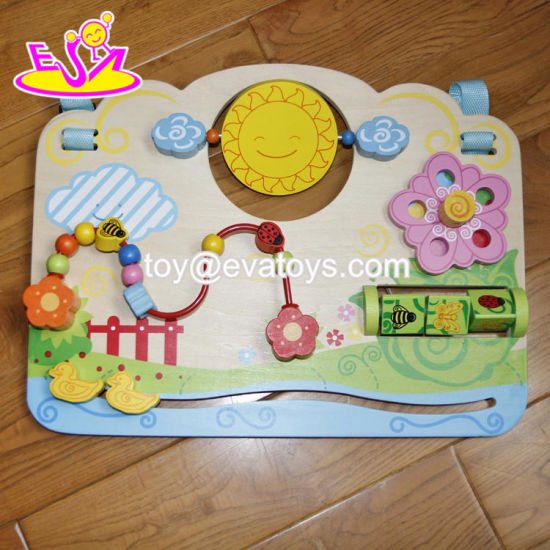 China New Hottest Early Education Busy Board Wooden Toddler Activity