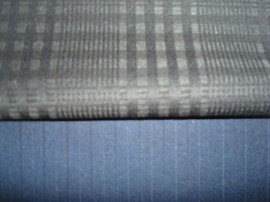 Wool Blenched Stripe Suit Fabric pictures & photos