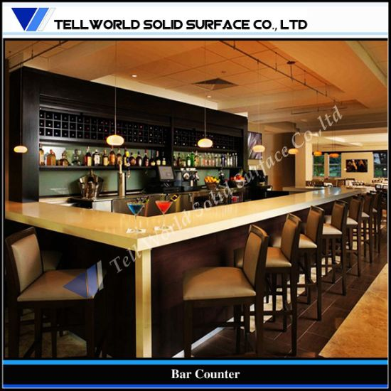 china tw fancy design commercial corian bar counter tw mact 029 rh tellworld en made in china com commercial bar countertop materials commercial bar countertop materials