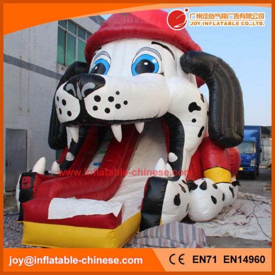 2018 High Quality 0.55mm PVC Tarpaulin Inflatable Partrol Dog Slide (T4-690) pictures & photos