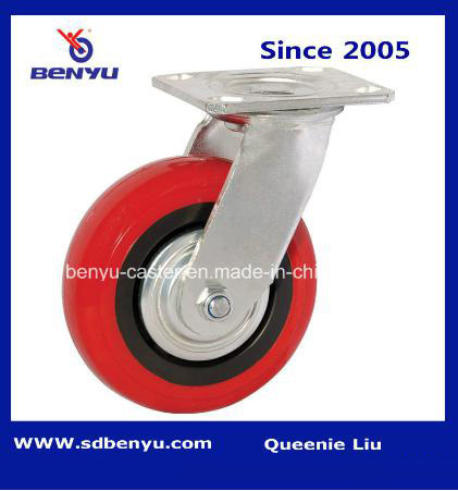 Heavy-Duty Arcuate Polyurethane Caster