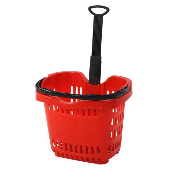 Apple Style Supermarket Plastic Shopping Basket