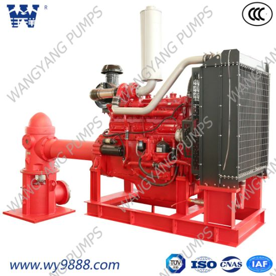 China Low Price Diesel Engine Line-Shaft Vertical Turbine Fire Pump