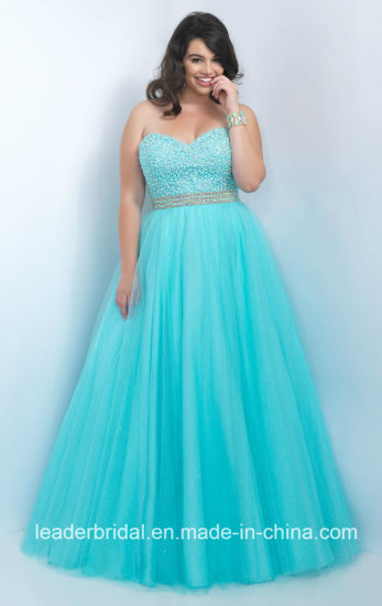 China Beading Party Prom Gowns Plus Size Custom Evening Dresses ...