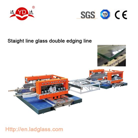 Glass Double Edging Machine with Transfer Table