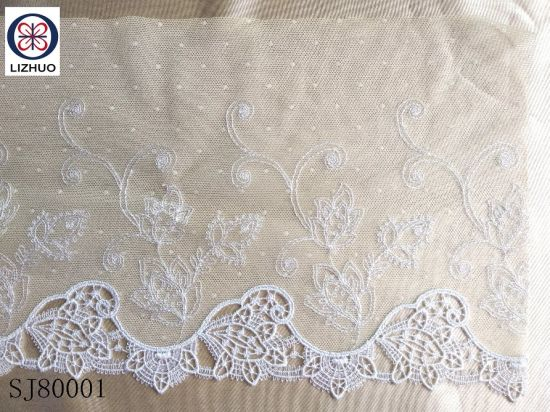 High Quality Embroidery Polyester Guipure Lace Fabric