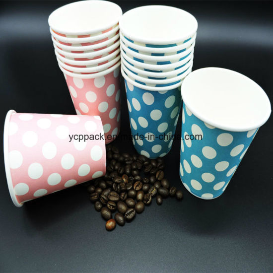 Disposable 8 Oz Single Wall Paper Coffee Cups with Lid pictures & photos