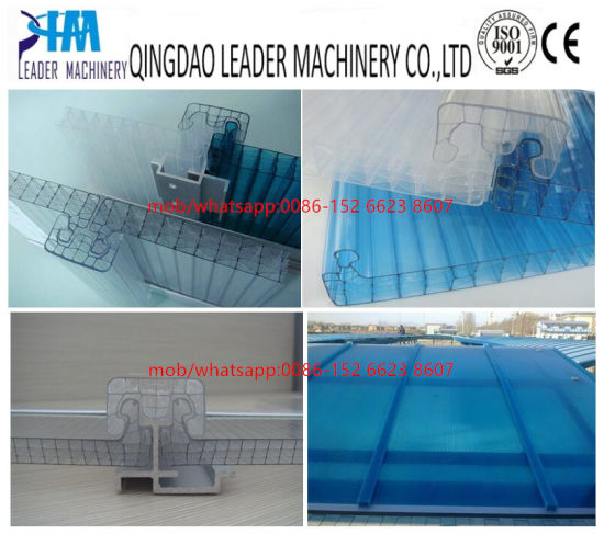 PC U-Shaped Lock Roofing Panel Extrusion Machine pictures & photos