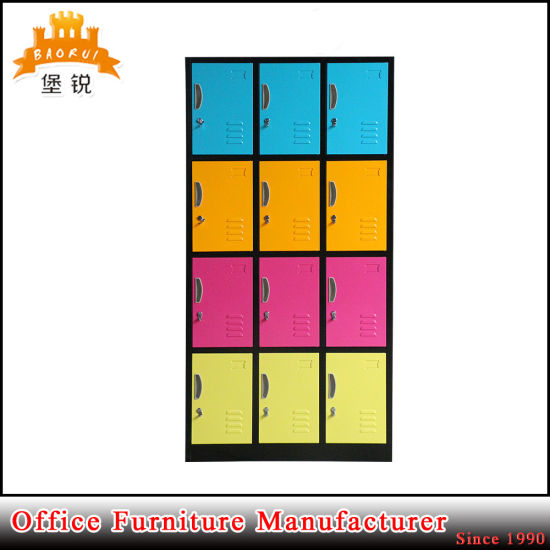 Jas-031 Promotion Cheap Metal Wardrobe-12 Doors with Pad Lock pictures & photos