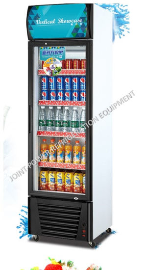 China Single Glass Door Soft Drink Fridge Display Price China