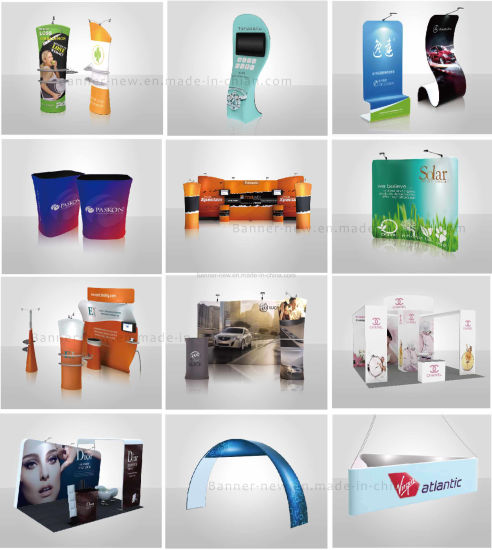 Tension Fabric Portable Exhibition Stand, Display Stand, Trade Show (KM-BSU) pictures & photos