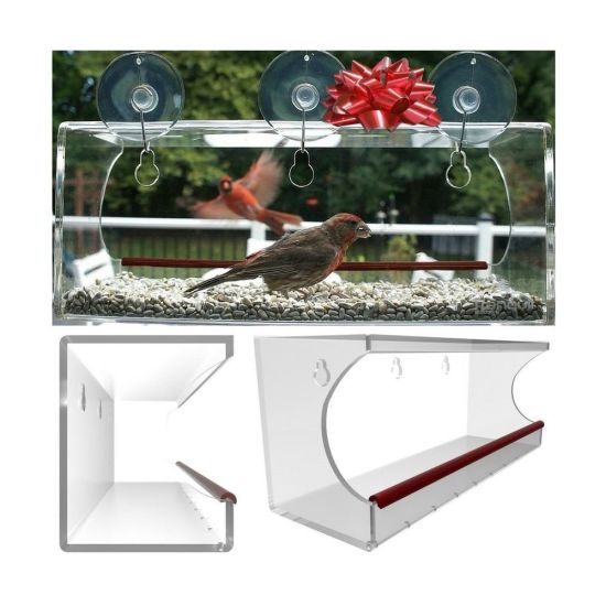 2018 Upgraded Design Acrylic Window Bird Feeder pictures & photos