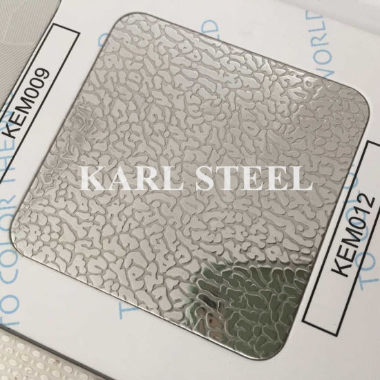 201 304 Embossed Finish Cold Rolled Stainless Steel Sheet pictures & photos