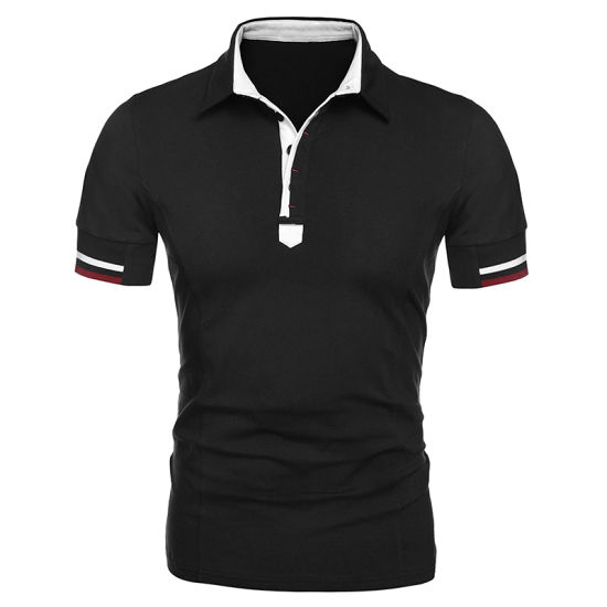Customized Mens Casual Button up Slim Fit Fashionable Trendy Polo T-Shirt