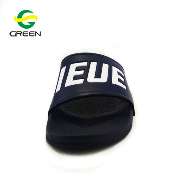 Greenshoe Men Plain Slide Sandal Custom Logo, Mens Wholesale Sandal Custom Slides Footwear, Custom Logo Blank Slide Sandal pictures & photos