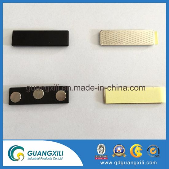 Round Name Tag Magnetic Pin Badge Holder/Fridge Magnet&Keychain