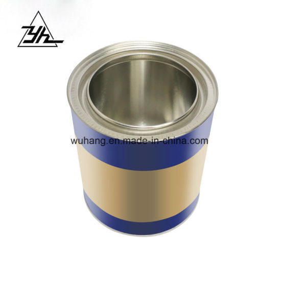 Small Round Tin Can, Metal Paint Containers, 0.8L Metal Tins