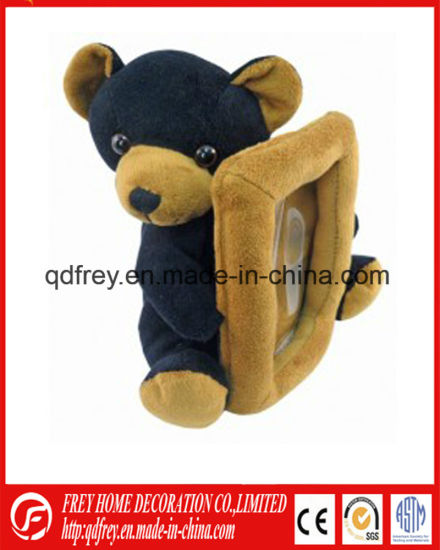 China Christmas Gift Of Soft Plush Teddy Bear Photo Frame China