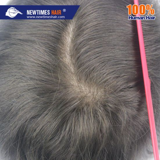 5707e13e3 Fine Mono PU Gauze Back Sides and Lace Front Remy Human Hair Durable Male  Wig