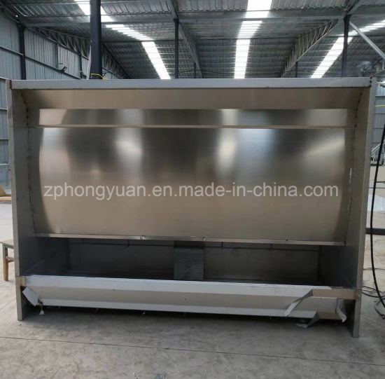 China Supplier Open Face Paint Booth Water Curtain Spray Booth