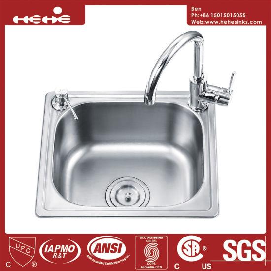 China Kitchen Sink, Stainless Steel Top Mount Single Bowl Kitchen ...