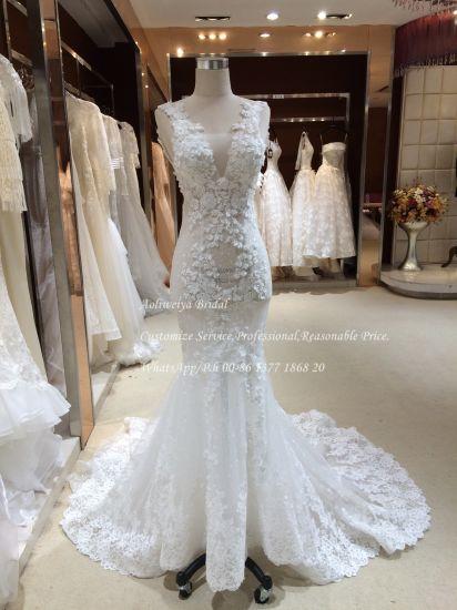 China Aolanes Mermaid Customize Pattern Wedding Dress - China ...