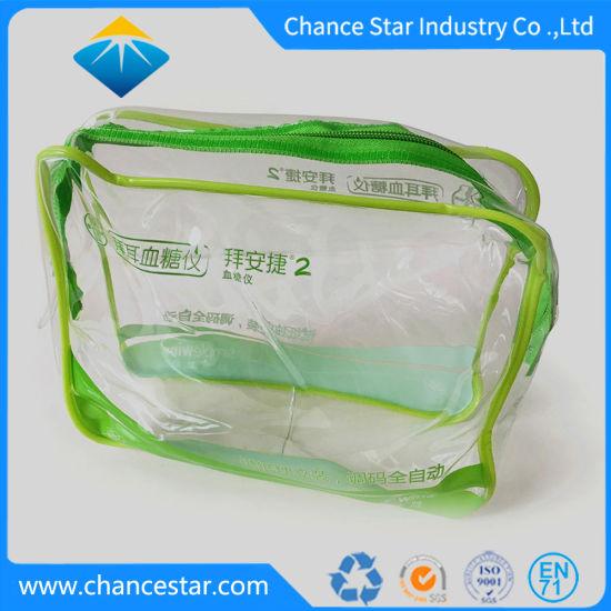 Custom Transparent Plastic Sewing Zipper Clear PVC Cosmetics Bag