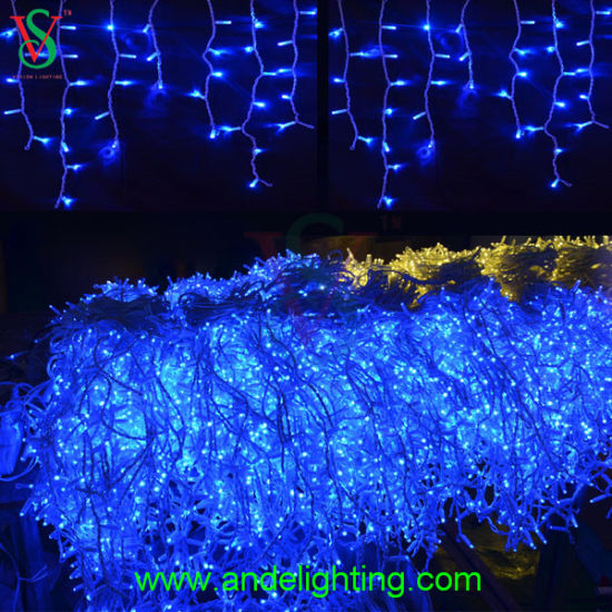 Outdoor Christmas Decoration Led Blue Icicle String Lights Pictures Photos