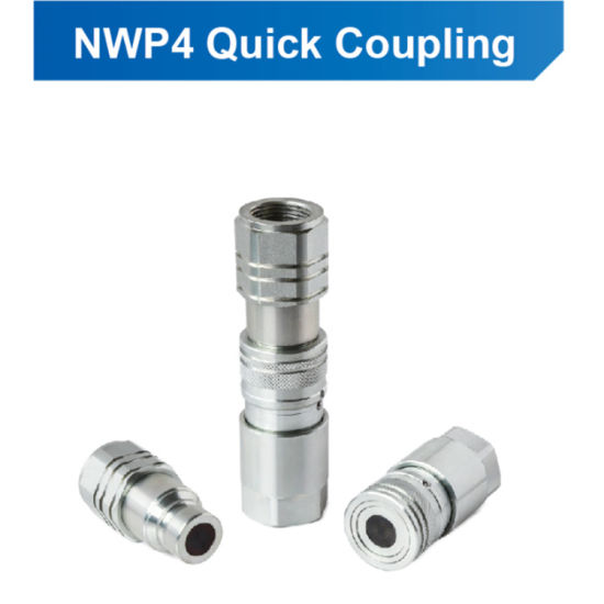 ISO 16028 Flat Face Quick Release Couplers with Thread Bsp/NPT
